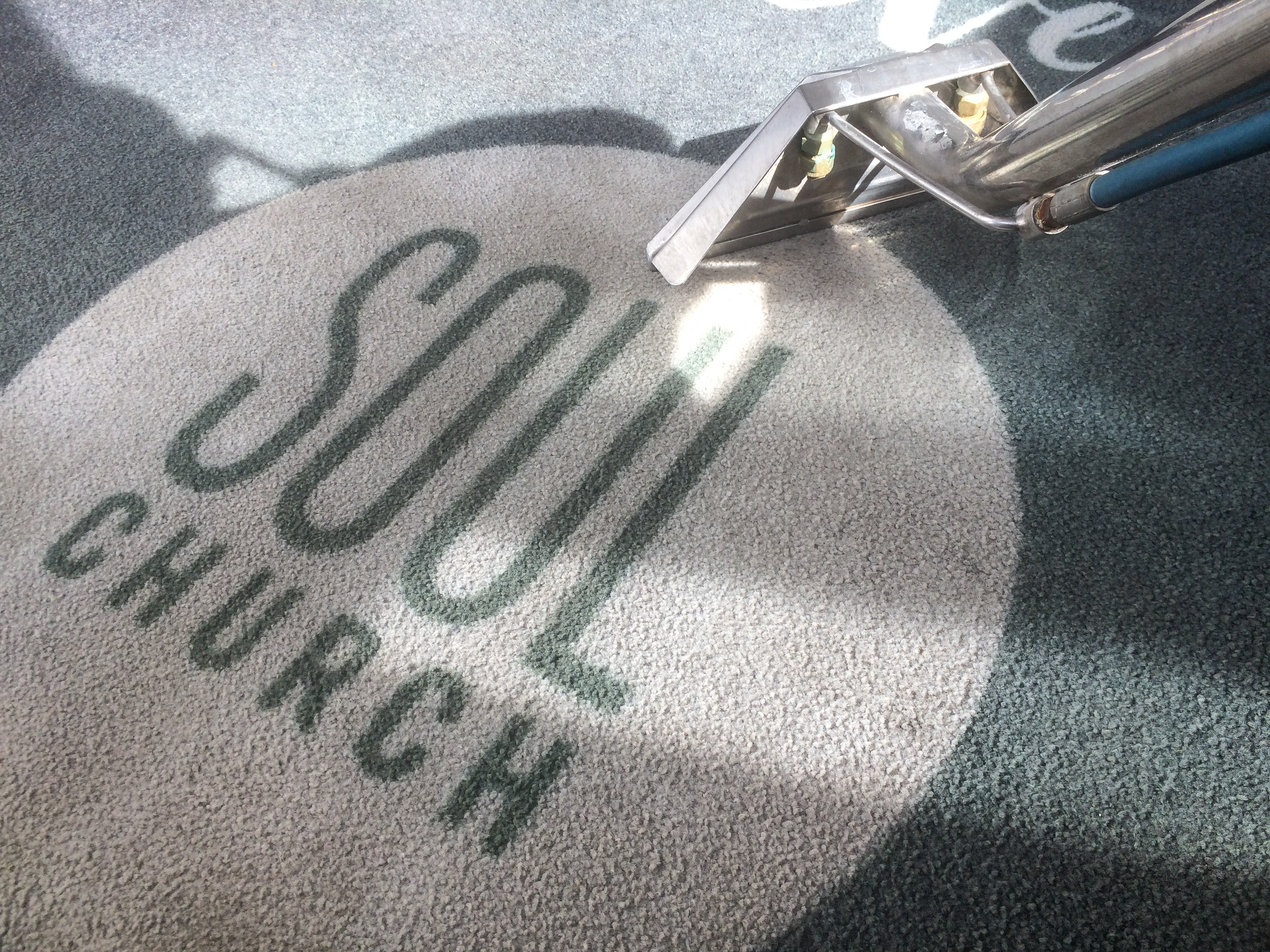Carpet Cleaning at Soul Church Cafe Cleanliness is next to godliness