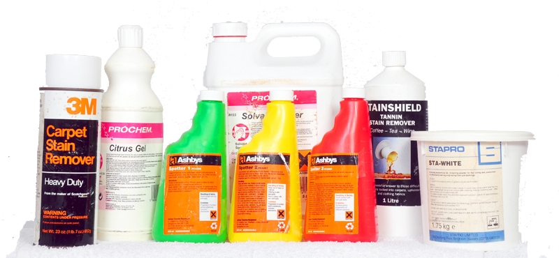Selection of stain removers we carry.